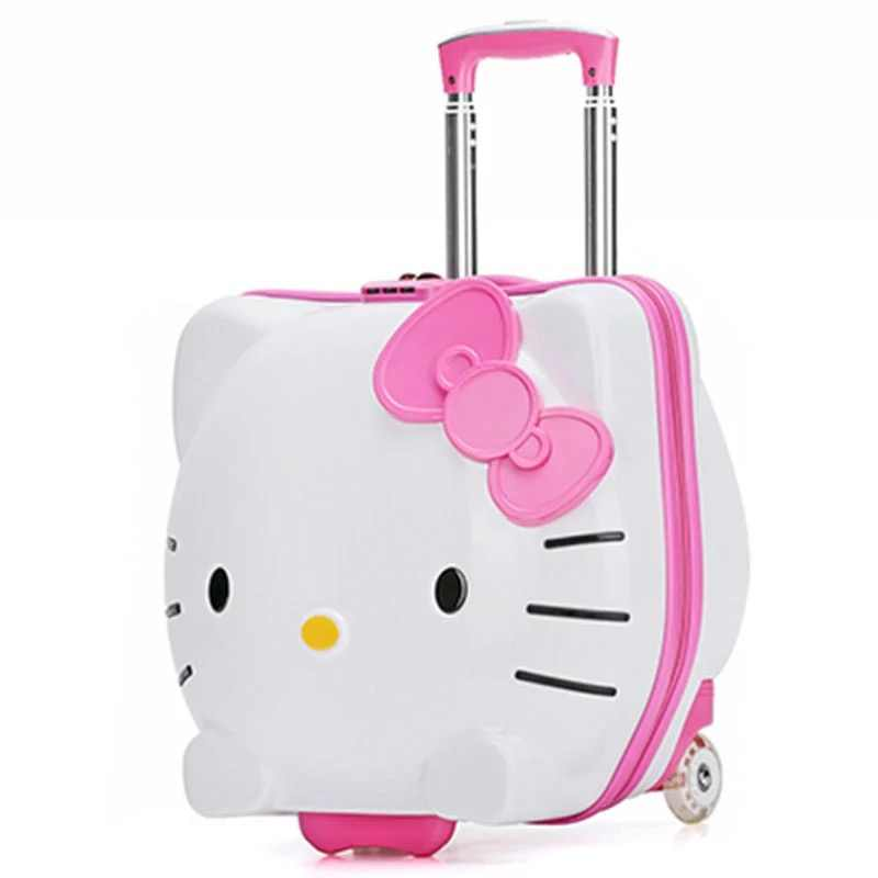 bb12a299e79b ... Hello Kitty Cute Rolling Luggage Bag Children s Suitcase With Wheels  Pink Trolley Case With Lock Boys ...