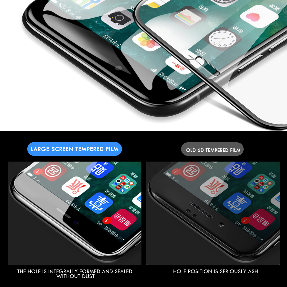 Image 4 - For iphone 7 screen protector 9H enhanced invisible tempered glass for iphone 8 plus iphone7 6 6s x xs protective glass film-in Phone Screen Protectors from Cellphones & Telecommunications