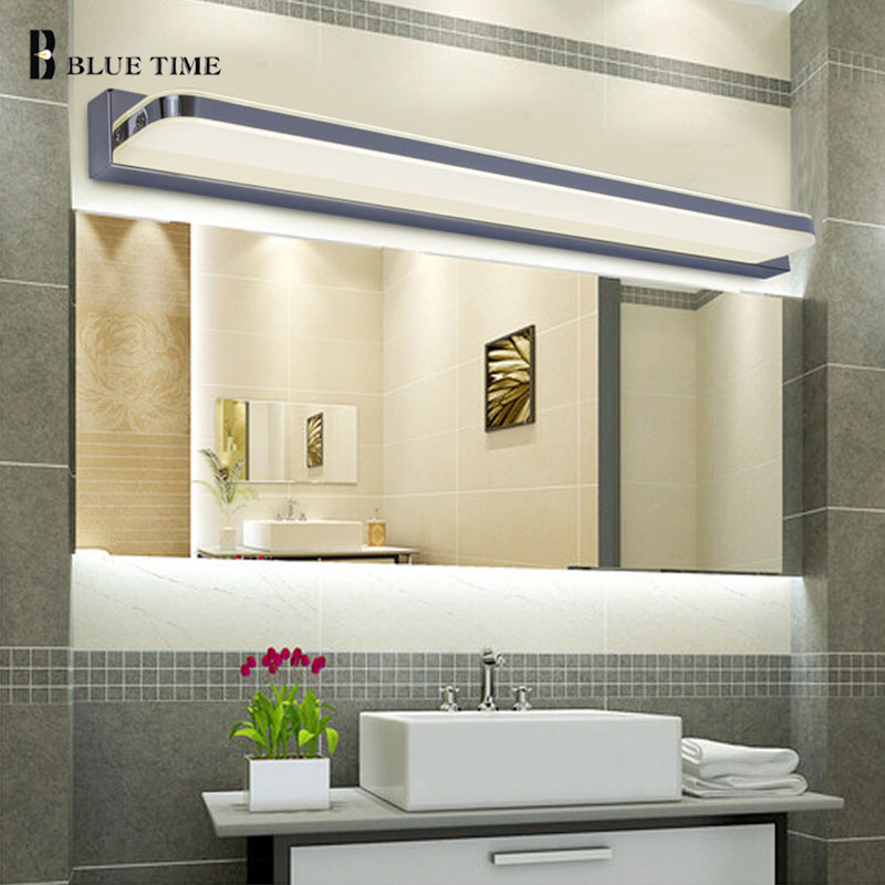 Us 2272 29 Off45 Cm 120 Cm Lustro światła Lampy Led łazienka ściany Lustro Szkło Wodoodporny Anti Fog Krótkie Nowoczesne Ze Stali Nierdzewnej