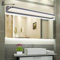 45CM 120CM Mirror Light Led Bathroom Wall Lamp Mirror Glass Waterproof Anti fog Brief Modern Stainless Steel Cabinet Led Light