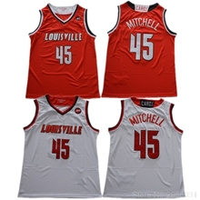 a15eaf396fb Louisville Cardinals College Donovan Mitchell #45 jersey Stitched White Red  Black Size S-XXL · 3 Colors Available