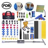 PDR Werkzeuge Ausbeulen ohne Reparatur Tool Kit Kleber Gun Reserve Hammer Dent Puller Set mit Werkzeug Tasche Auto Dent Remover hand Werkzeuge-in Handwerkzeug-Sets aus Werkzeug bei