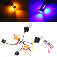 LED Bulbs 20SMD 7440 DRL Turn Signal Light Pink Red Ice Blue Blue White Turn Yellow