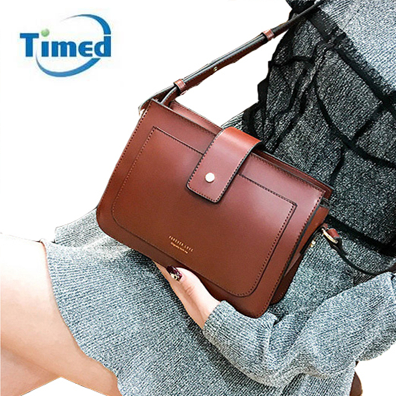 TIMED Shoulder Bag Vintage Simple All-match Square Messanger Bag Fashion Design High Qua ...
