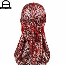 Durag en soie pour hommes et femmes, chapeau Bandana respirant et soyeux à longue queue, Turban, couvre-chef chimio