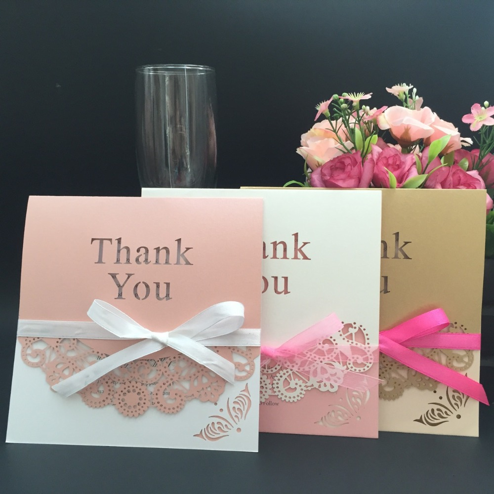 Europe Style Hollow Out Thank You Card New Year Thanksful
