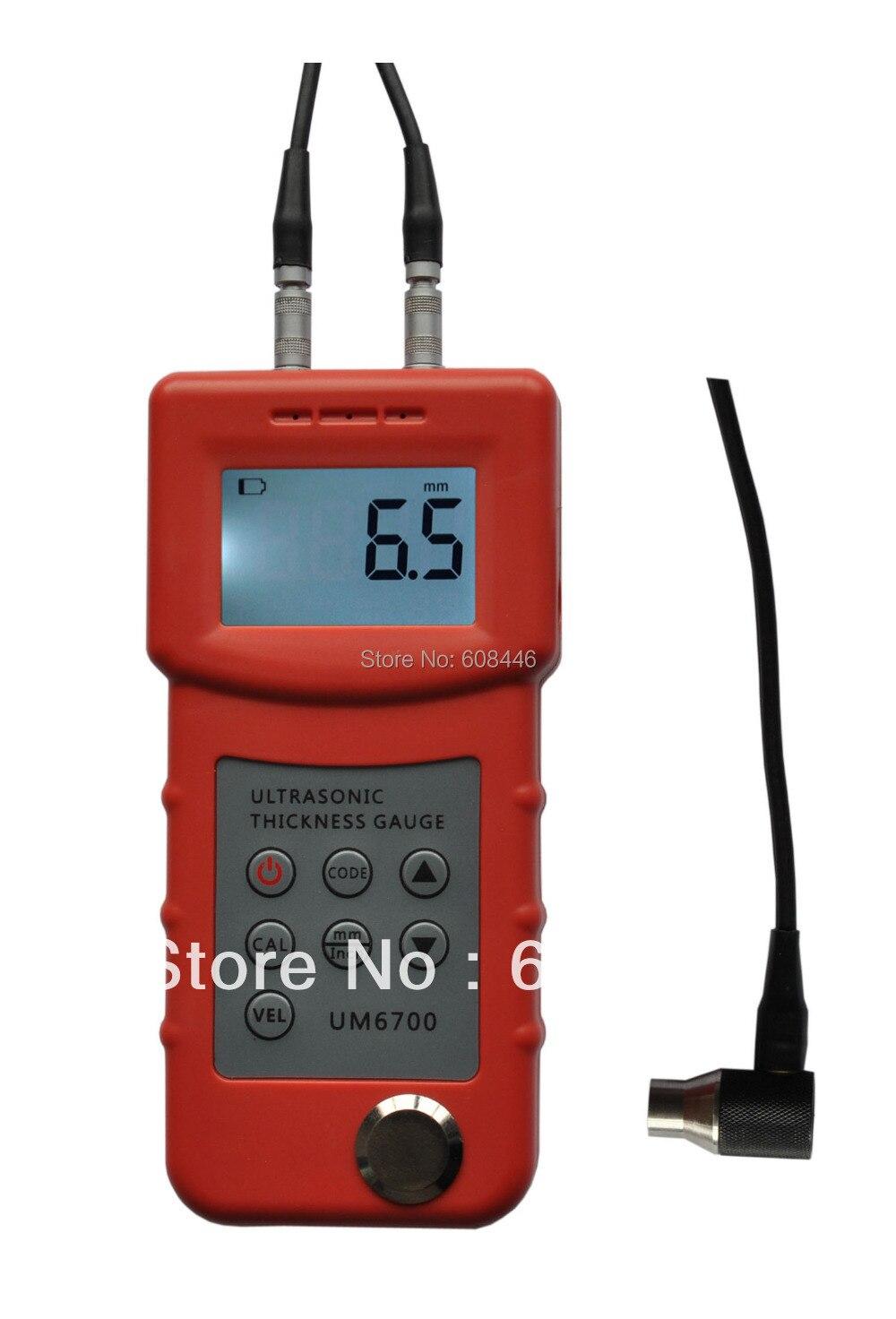 Preciso Medidor de Espessura, Medidor de Espessura do Metal UM6700, pode testar muitos onda ultra-sônica-materiais condutores
