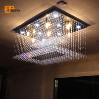 Free Shipping New LED Lamp Big Crystal Chandelier Modern Lighting For Living Room Hotel L100 W65