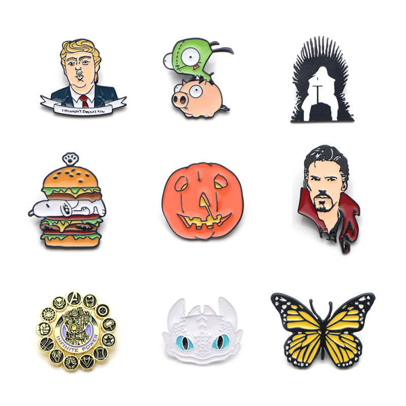 V105 Vlinder Grappig Pins Metal Enamel Pins En Broches Revers Pin Rugzak Tassen Badge Collectie Gift 1 Pcs