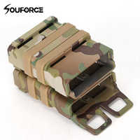 High Quality 9 Color Airsoft Rifle 5.56 Mag M4 Magazine Fast Attach Tactical Pouch Molle System Hard Shell Cartridge for Hunting