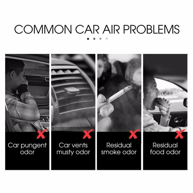Metal Car Air Freshener Natural Solid Perfume Fragrance Essential Oil Air Diffuser Adjustable Auto Air Purifier for Car Vent