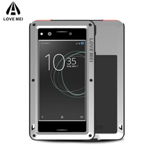 LOVE MEI Aluminum Metal Case For Sony Xperia XZ Premium Cover Armor Shockproof Life Waterproof Case For Xperia XZ Premium Coque