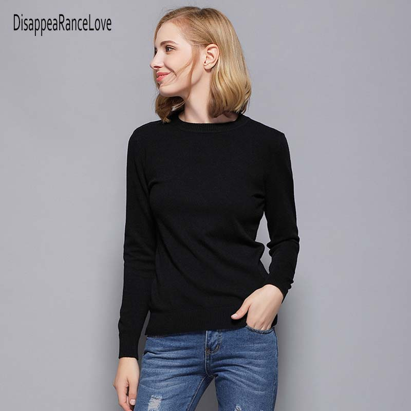 DRL 2019 Women Pullover and Sweaters Long Sleeve Pull Femme Autumn Winter Top Warm Knittwear High Elastic Jersey Mujer
