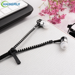 Hangrui zipper earphone 3.5mm