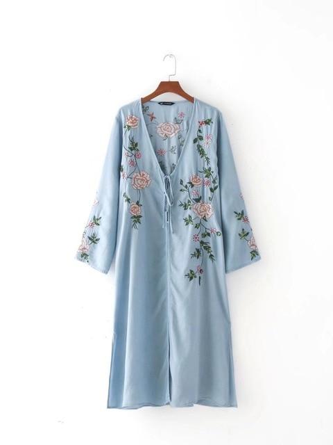 V Neck Kimono Dress