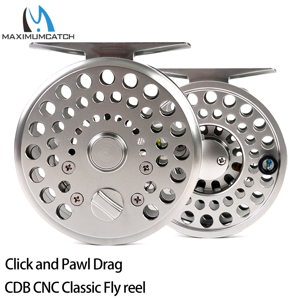 Maximumcatch Maxcatch Fly Fishing Reel Click and Pawl Drag CNC Machined Cut Trout Classic CDB Fly Reel 2/3/4WT