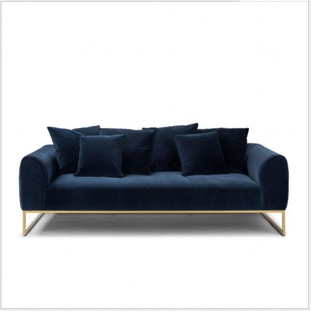 Nordic light luxury fabric sofa dark green small apartment designer ...