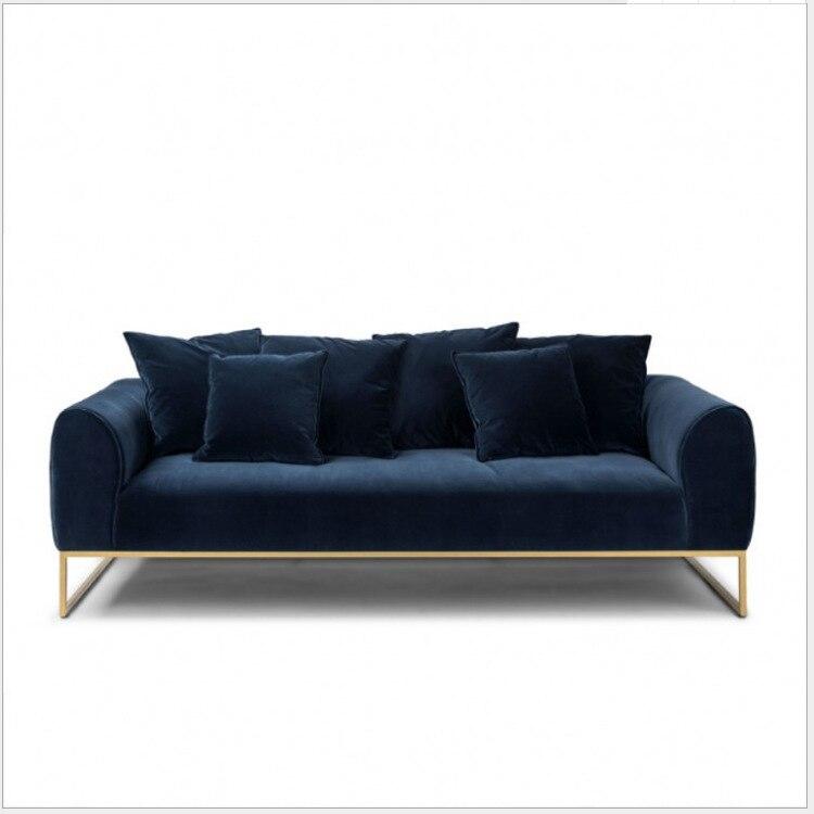 Oświetlenie w stylu nordyckim tkanina luksusowa sofa ciemnozielone małe mieszkanie projektant postmodernistyczne trzyosobowa minimalistyczna sofa do salonu