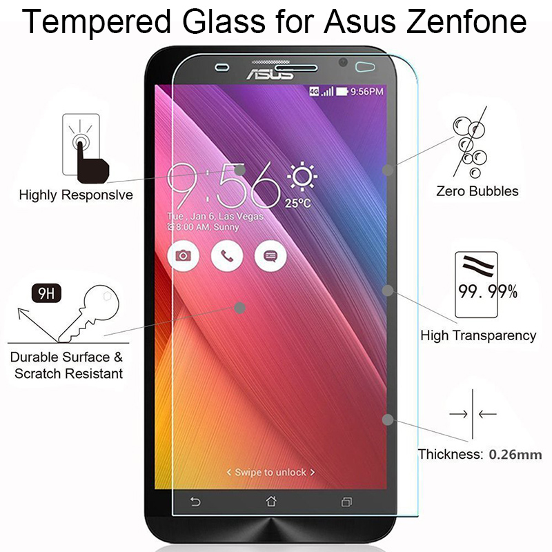 Protective Glass For Asus Zenfone 2 Laser 3 Deluxe 3S Max ZE500KL ZE550KL ZE601KL ZC521TL Glass On 3 Max ZC520TL ZC553KL ZC551KL