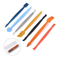 FOSHIO 7pcs/Set Vinyl Squeegee with Magnet Long Handle Foil Film Car Wrap Magnetic Tool Window Tint Auto Wrapping Accessories
