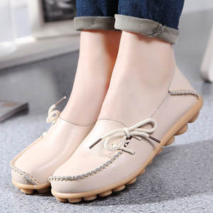 Rilihong Flat Shoes Casual Women Moccasins Leather