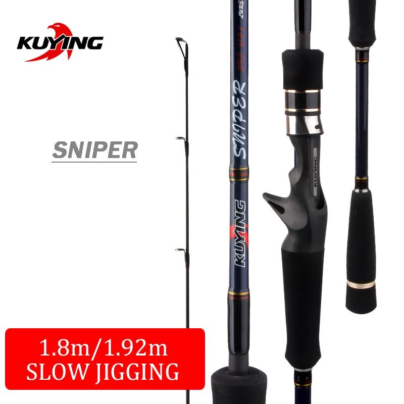 KUYING Sniper 1.5 Sections 1.8 m 1.92 m léger lent Jigging Rod coulée filature leurre en Fiber de carbone mer canne à pêche pôle
