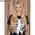 2017 Summer Punk Rock Street T Shirt Women Skeleton Printing Printed T-shirt Women Tees Tops Tee Shirt Femme