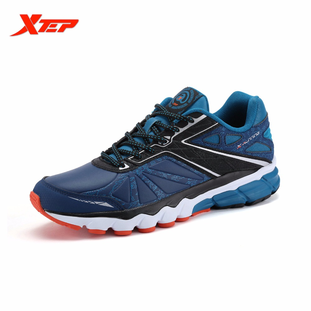 XTEP Brand Profession Men Running Sports Shoes 2016 Autumn Winter Athletic Sneakers Damping Cushioning Male Shoes 984419119095 xtep men running shoes 2016 sports shoes men s athletic sneakers air mesh cheap run shock resistance trainers shoes cushioning
