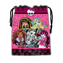 H-P773 Custom Monster high#17 drawstring bags for mobile phone tablet PC packaging Gift Bags18X22cm SQ00806#H0773