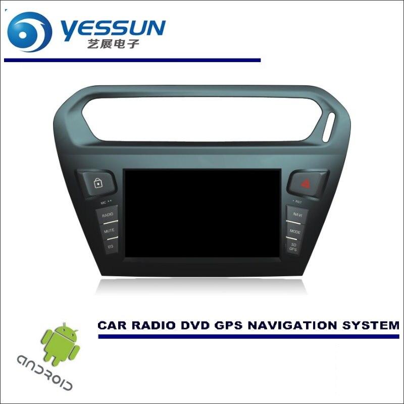 YESSUN système de Navigation Android voiture pour citroën c-elysee/pour Peugeot 301 2012 ~ 2016 Radio stéréo lecteur CD DVD GPS Navi BT HD