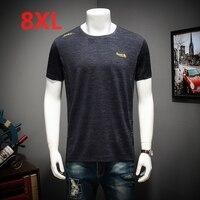 2018 NEW Large size short sleeved T Shirt Large size plus Big o neck man shirt man big and tall husband 8XL 7XL 6XL 5XL