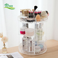 Obrotowy stojaki produkty do pielęgnacji skóry kosmetyki schowek Kredens pulpit przejrzyste szminki pole wykończeniowe
