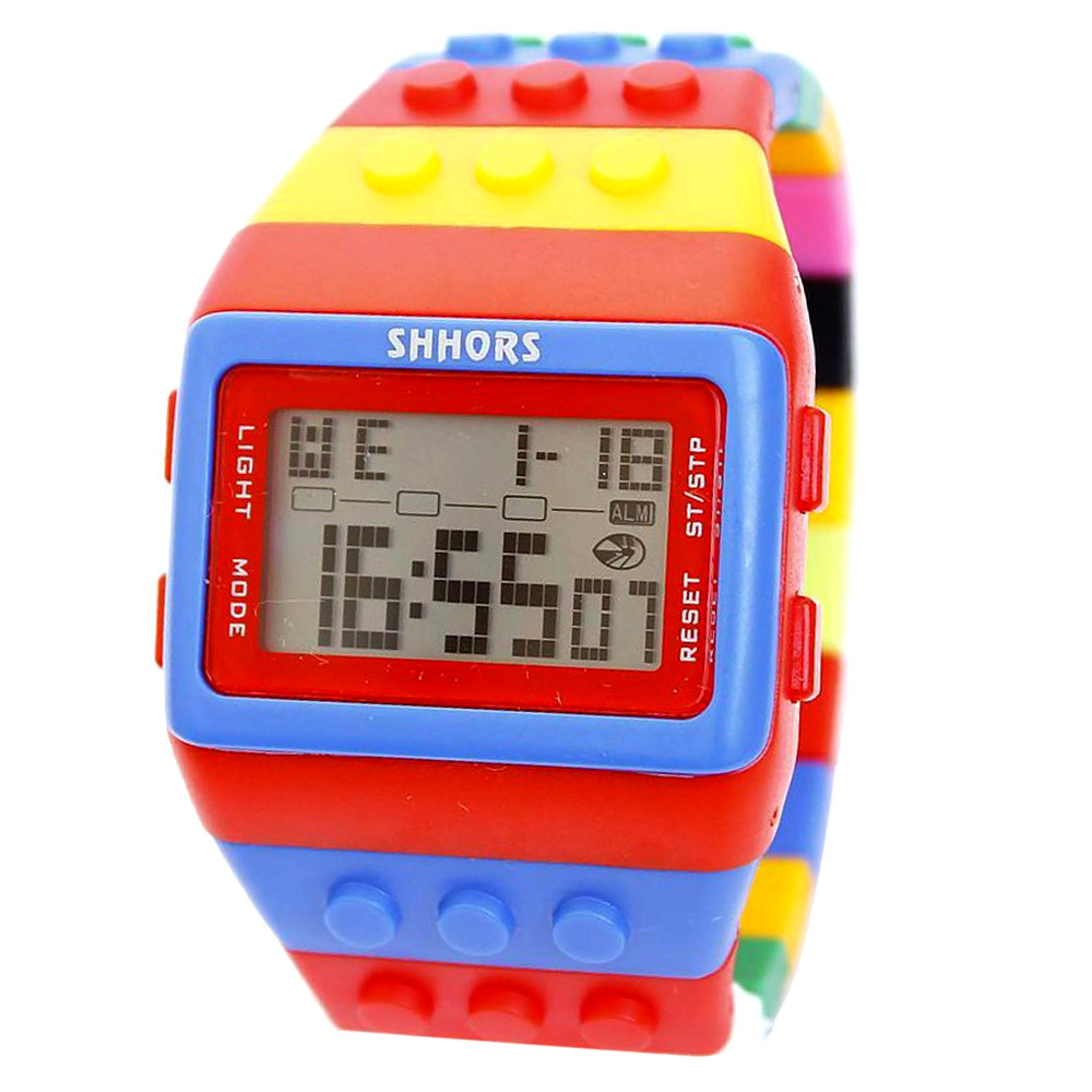 лучшая цена New Fashion Colorful Men Women LED Silicone Band Digital Watch#hot sale free shipping men sport fashion cute Children gift 2