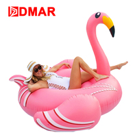 DMAR 190CM 75inch Giant Inflatable Flamingo Pool Float Toys Swimming Ring Circle Party Decoration Inflatable Mattress Beach Sea