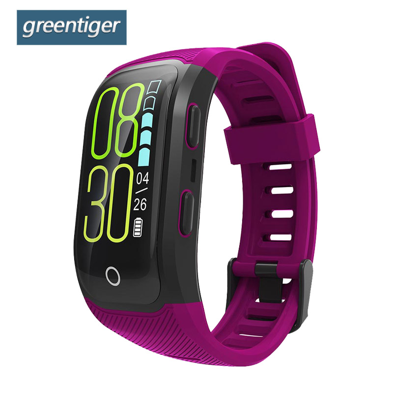 Greentiger S908 Plus Smart Band GPS IP68 Waterproof Smart Wristband Color LCD Heart Rate Monitor Fitness Tracker Smart Bracelet-in Smart Wristbands from Consumer Electronics    1