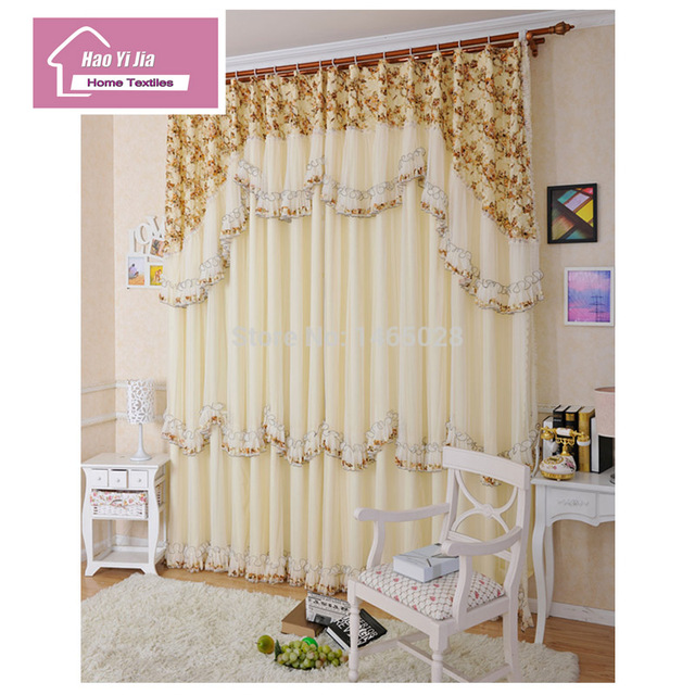 Korean High End Fashion Wedding Lace Curtains Bedroom Curtains Room