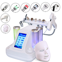 8 IN 1 Portable Ultrasonic Diamond Dermabrasion Oxygen Water Jet Peel Deep Cleansing Facial Machine with RF Skin Care