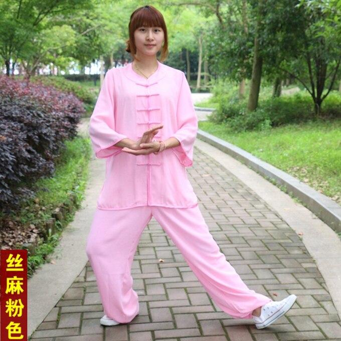aa395e1d9c9f High-quality Tai chi clothing cotton Wushu clothes half sleeve martial arts  suit Taijiquan practice Kungfu Uniformes