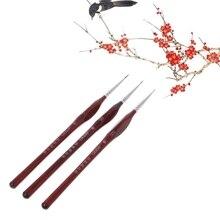 1 шт. миниатюрная кисть для рисования Волчья шерсть профессиональная тонкая детализация ручка Размер 0 00 000 hyq