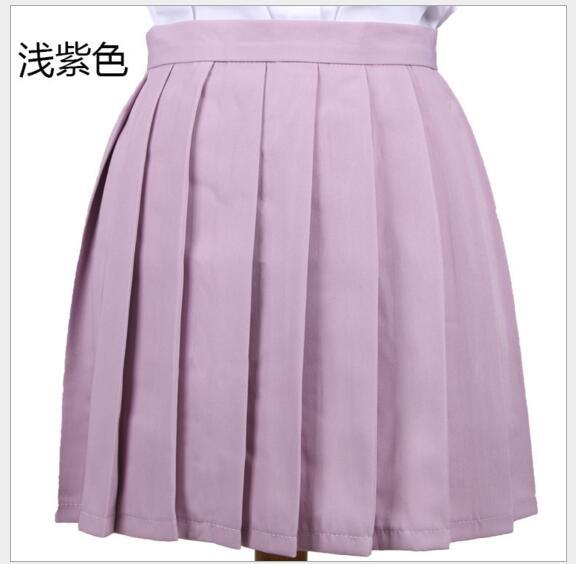2017 High Waist Pleated Skirt  Anime Cosplay School Uniform Student Girl Pleated Skirt for Girl