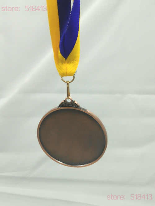 Sarı, mavi, madalya kurdela bağlı şerit ile yüksek kalite Unisex jimnastik okul spor günü ulusal bayrak sicak satiş 2020
