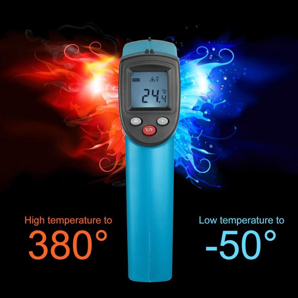 GM320 Digitale Senza Contatto del Laser IR Digital C/F Selezione Termometro Pistola Tre Colori Palmare-50 ~ 330 Gradi Termoregolatore