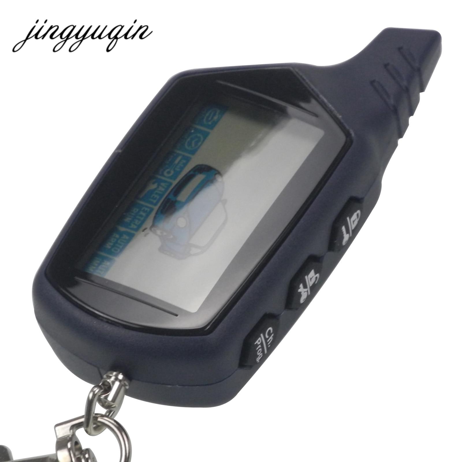 Jingyuqin Russe Version pour StarLine Twage B9 LCD À Distance porte-clés Fob Voiture À Distance 2-Façon Véhicule Système D'alarme/ ch. Prog. + cadeau