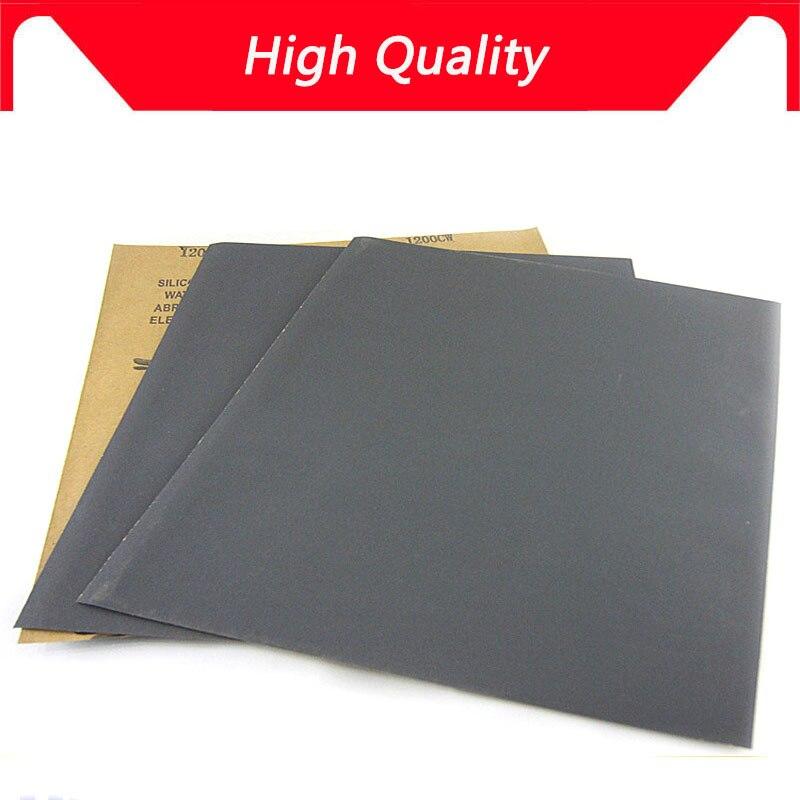 NOUVEAU 100 pcs Superfine Papier de Verre Brossé D'eau Ponçage Papier Outils De Meulage De Polissage Grit 60 80 120 240 1000 2000 Abrasifs papier