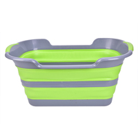 1PCS 2 Colors Portable Silicone Bath Tub Baby Folding Non Slip Bathtub Baby Shower Bath Accessories