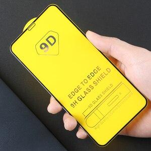 Image 5 - 25 個 9D フル接着剤湾曲した強化ガラス 11 プロフルスクリーンプロテクター iphone xs xr 保護フィルム