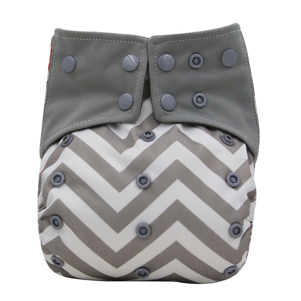 Ohbabyka Bamboo Charcoal Night Baby Cloth Diaper Double Gussets - Blöjor och potträning - Foto 4