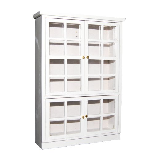 1/12 <font><b>Dollhouse</b></font> <font><b>Miniature</b></font> <font><b>Furniture</b></font> <font><b>Kitchen</b></font> Dining Cabinet Display Shelf White image
