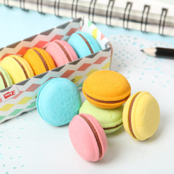 5 PCS Cute Kawaii Colorful Cake Rubber Eraser Creative Macaron Eraser For Kids Student Gift Novelty Item