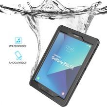 Samsung Galaxy Tab için S3 Tablet durumda darbeye dayanıklı toz geçirmez kapak Samsung Galaxy Tab için S4 T830 T835/Tab a6 su geçirmez kılıf